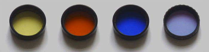 selection of color filters for small telescopes